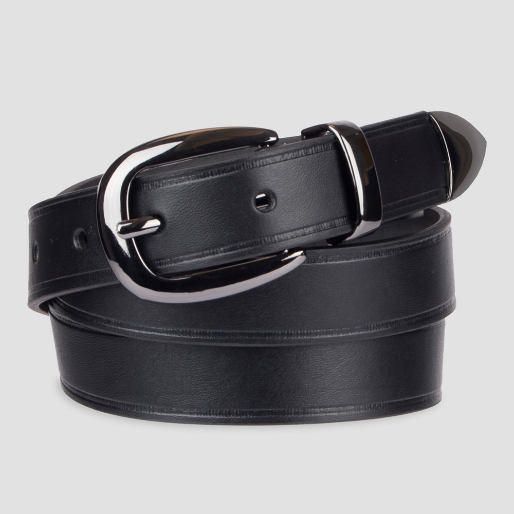 Womens Gunmetal Belt with Metal Tip - Mossimo Supply Co. Black Xxl