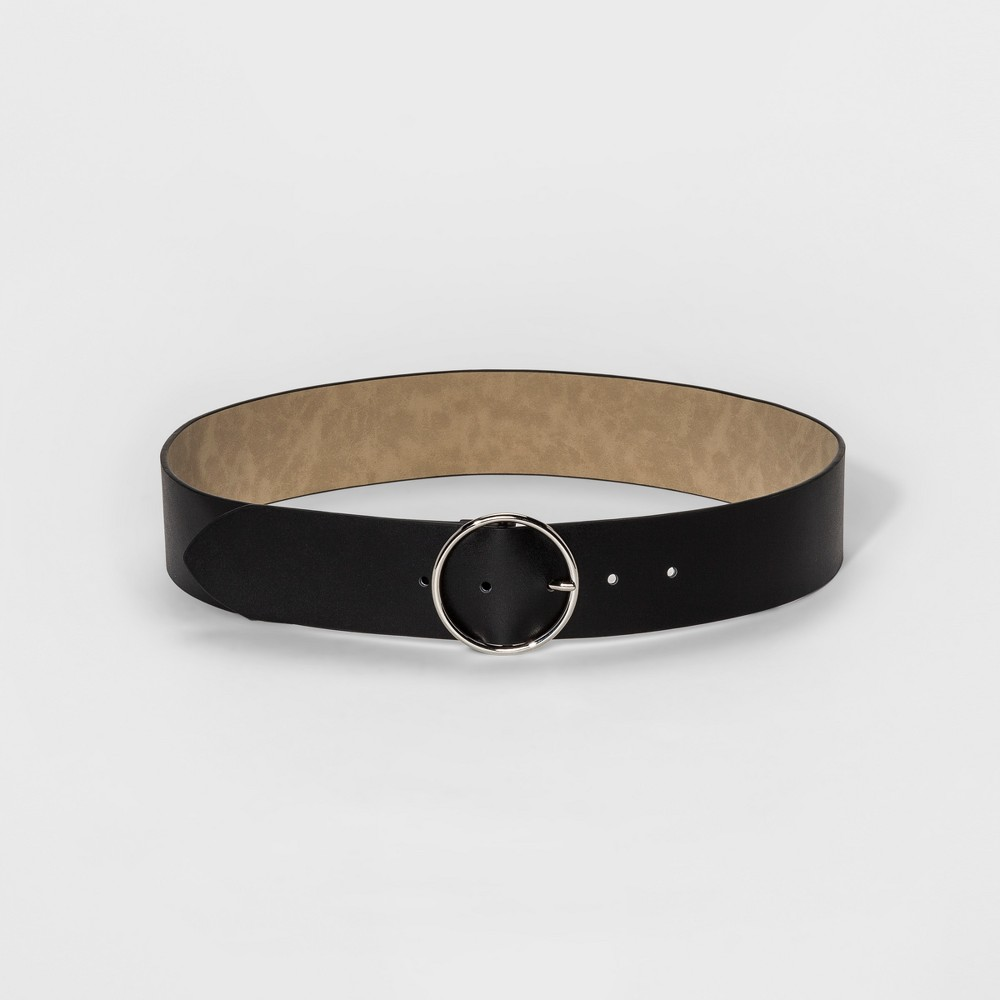 Womens Wide Width Circle Belt - Mossimo Supply Co. Black L