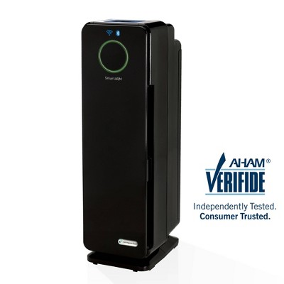 Germ Guardian CDAP4500BCA Smart Elite 4-in-1 True HEPA Air Purifier with UV Sanitizer. Odor Reduction and WiFi, 22  Tower, Black