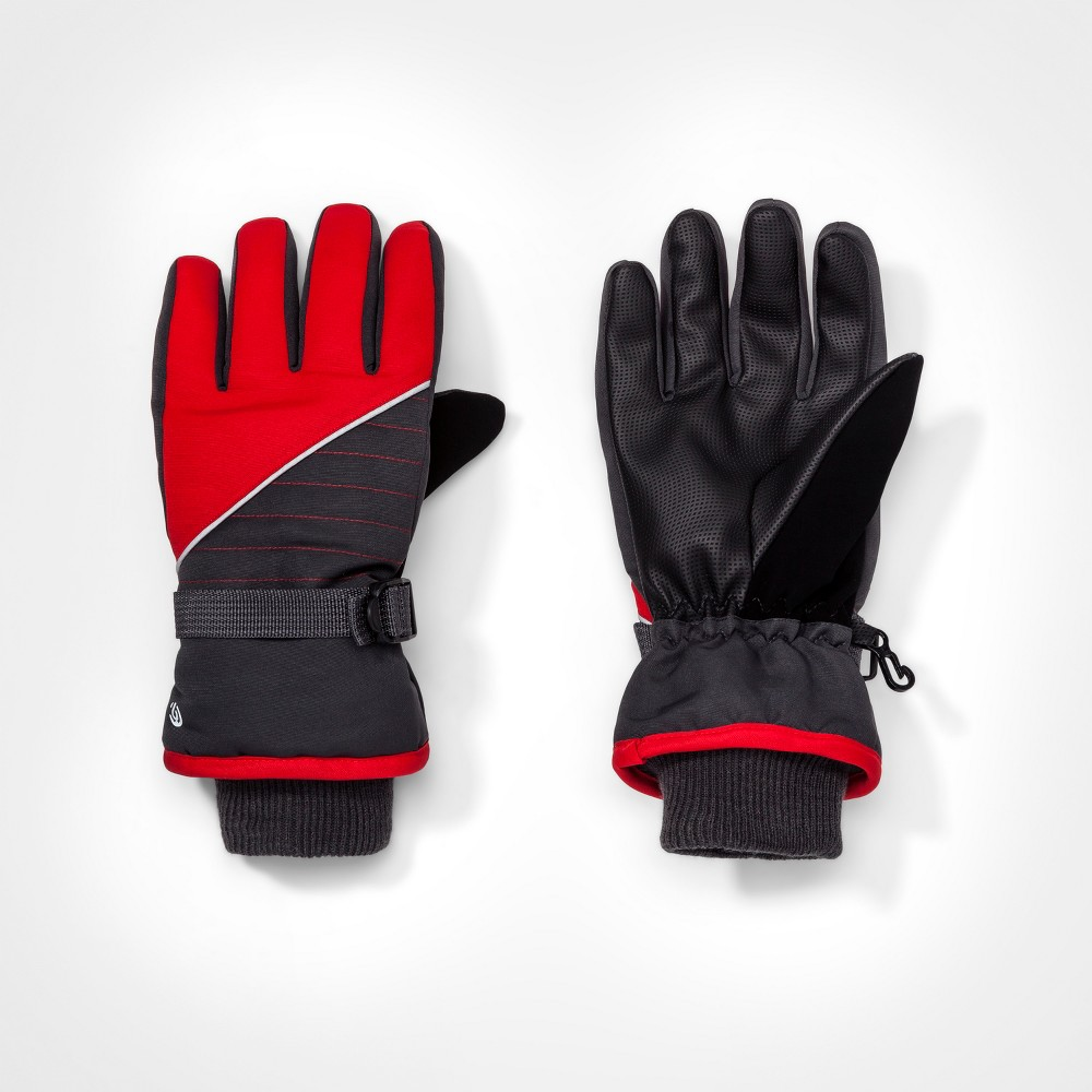 Boys Colorblock Gloves - C9 Champion Gray/Red 8-16, Gray Red