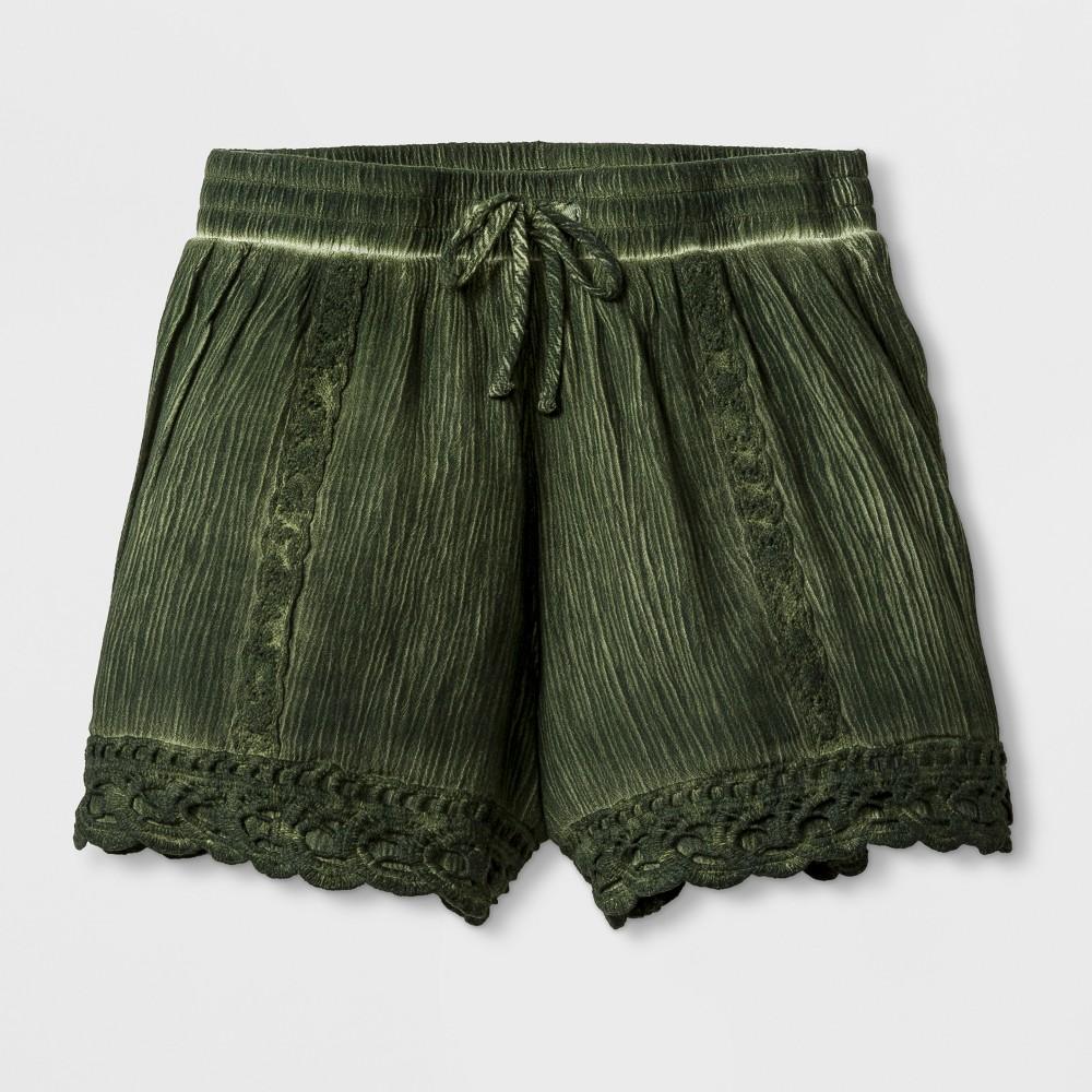 Girls Gauze Shorts - Art Class Picnic Green XL