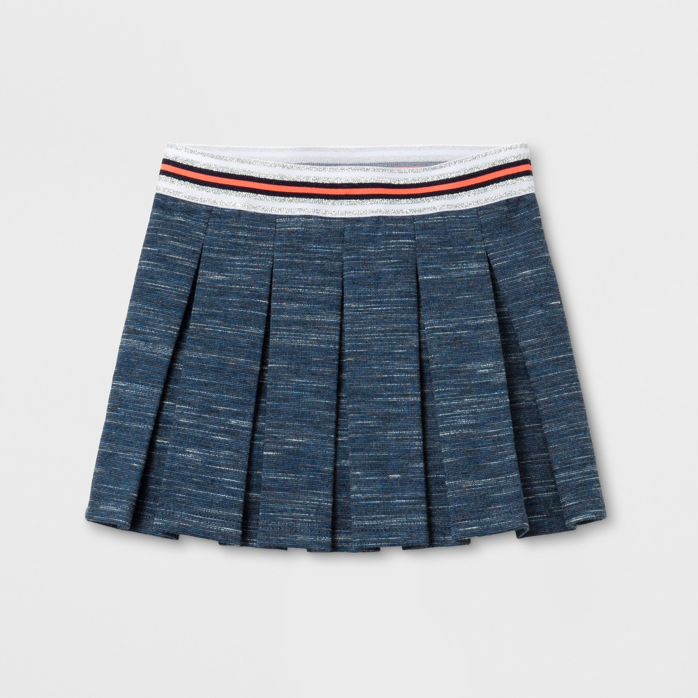 Toddler Girls A Line Skirt - Cat & Jack Nightfall Blue 2T