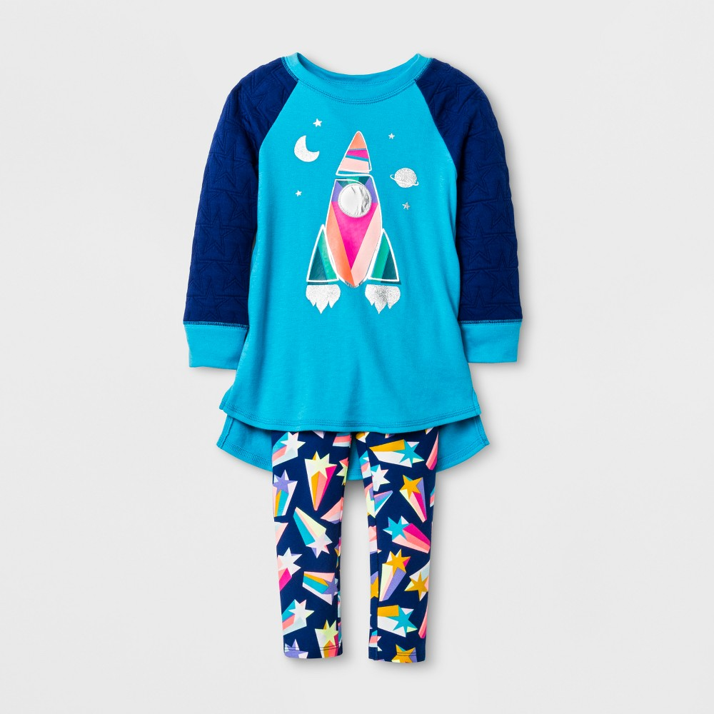 Top And Bottom Sets Cat & Jack Blue Dream 4T, Toddler Girls