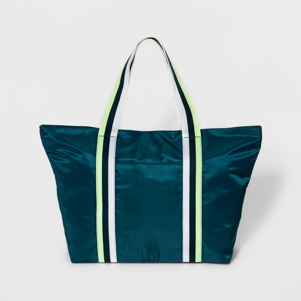 Womens Nylon Tote Handbag - A New Day Hedge Green, Size: Large
