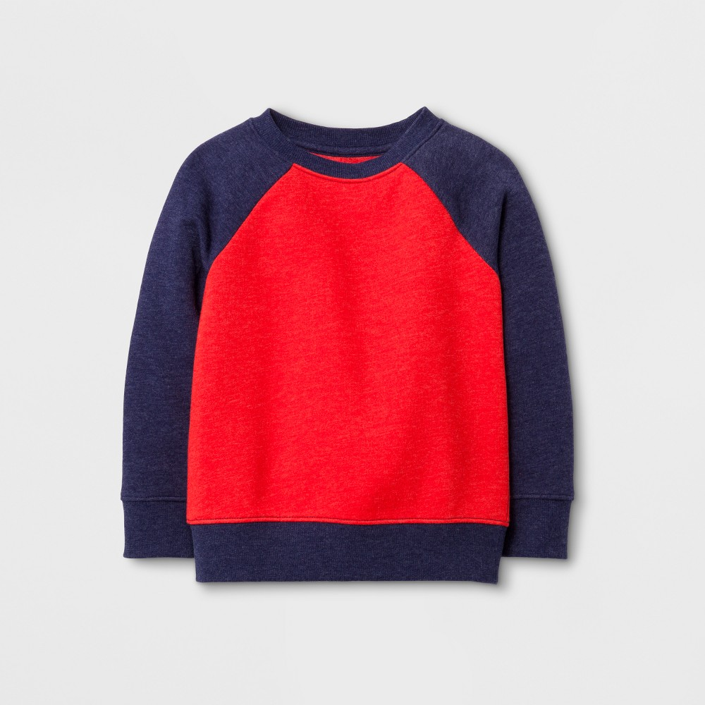 Toddler Boys Sweatshirts Cat & Jack Red/Navy 12M, Size: 12 M
