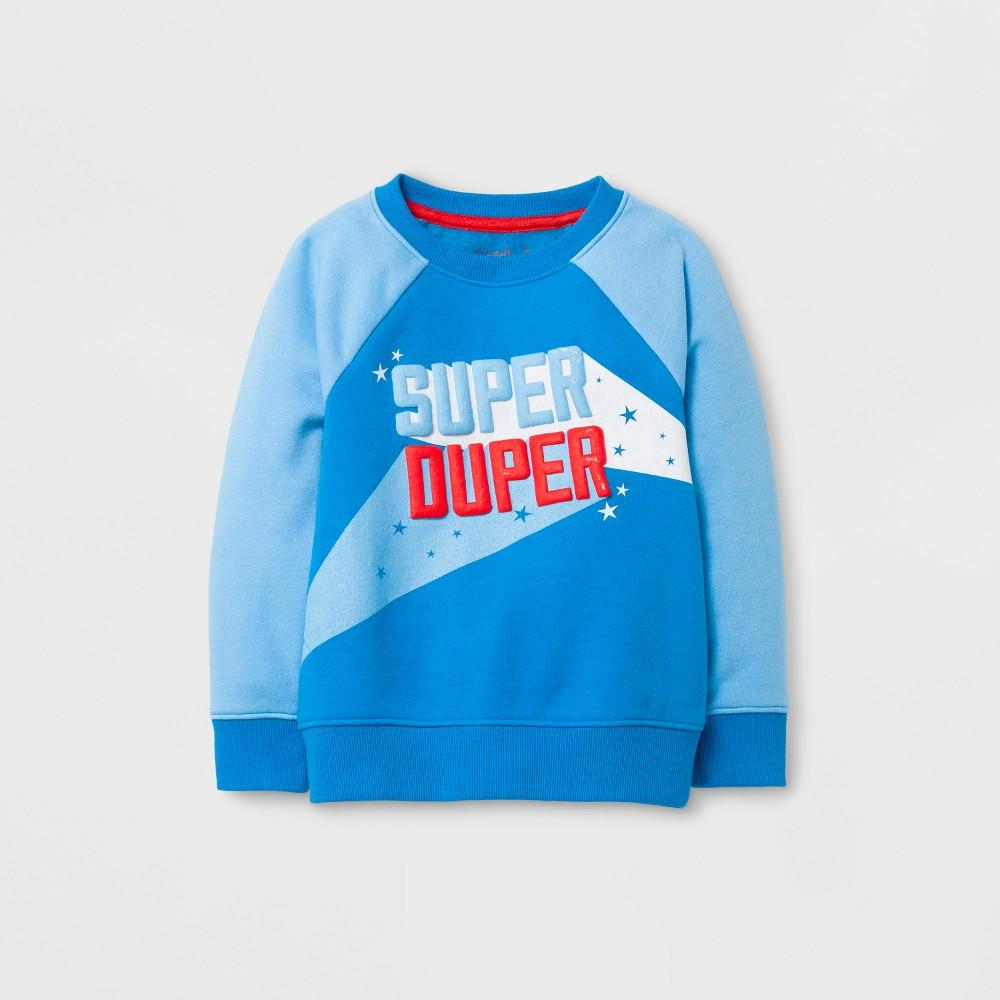Toddler Boys Sweatshirts Cat & Jack Bright Blue 12M, Size: 12 M