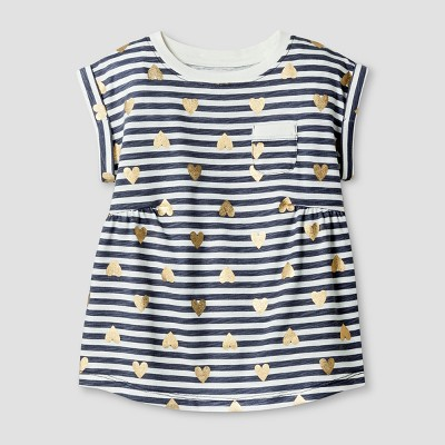 Toddler Girls' T-Shirt - Cat & Jack™ Smokestone 2T