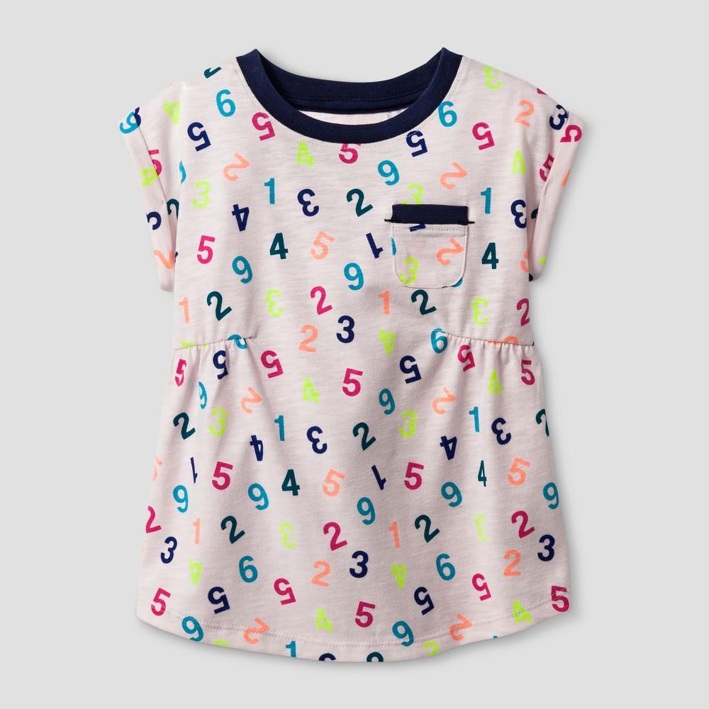 Toddler Girls T-Shirt - Cat & Jack Cherry Cream 4T, Pink