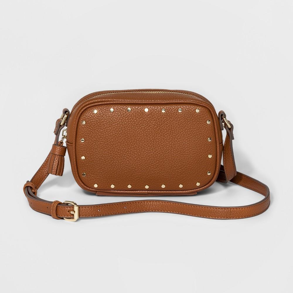 Womens Crossbody Handbag with Guitar Strap - A New Day Cognac (Red)