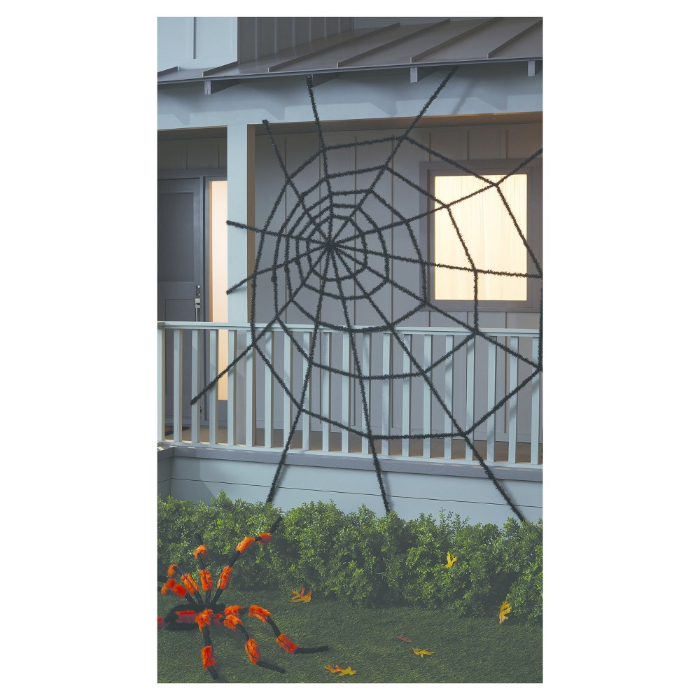 Halloween Giant Spider Web Black 10ft - Hyde and Eek! Boutique