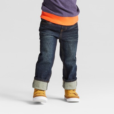 Toddler Boys' Skinny Rib Waist Denim Pants Cat & Jack™ Medium Wash 18M