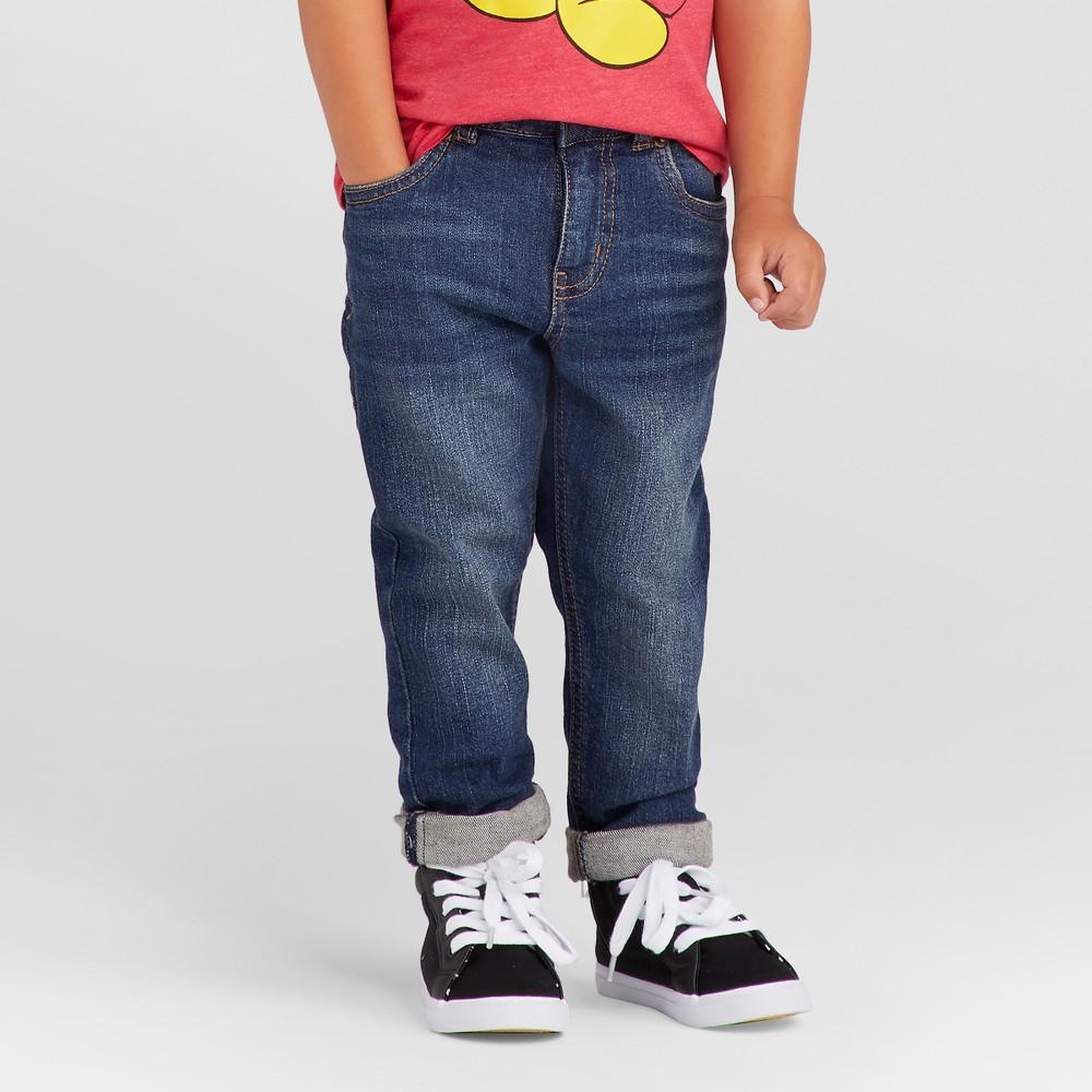 Toddler Boys Skinny Adjustable Waist Jean Pants - Cat & Jack Blue 12M, Size: 12 Months