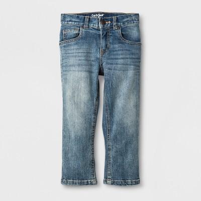 Toddler Boys' Straight Adjustable Waist Denim Pants Cat & Jack™ Blue 18M