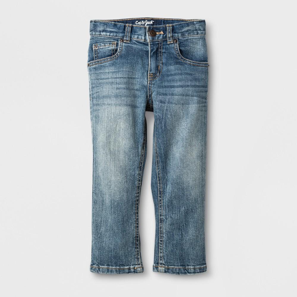 Toddler Boys' Straight Adjustable Waist Denim Pants Cat & Jack Blue 18M, Size: 18 M