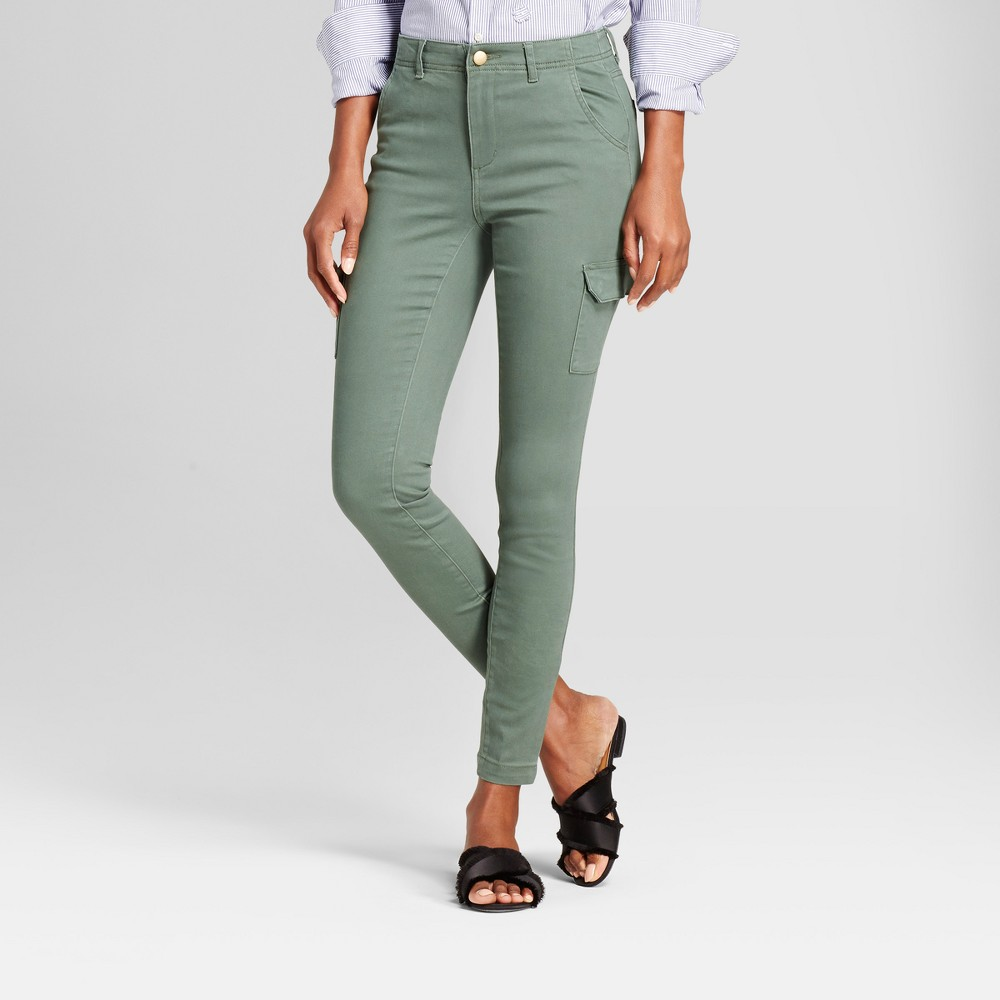 Womens Skinny Chino Pants - A New Day Moss 18, Green