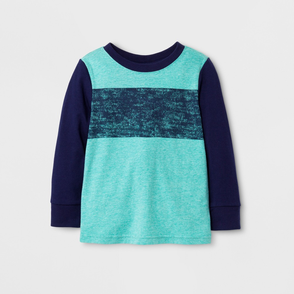 Toddler Boys T-Shirts Cat & Jack Blue/Green 18M, Size: 18 M
