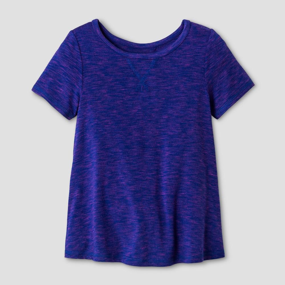 Toddler Girls Short Sleeve Activewear T-Shirt - Cat & Jack Blue 12M, Size: 12 M