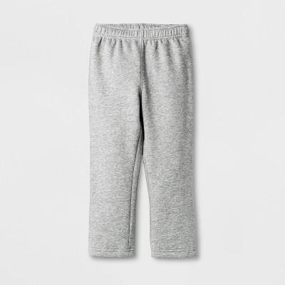 Toddler Boys' Fleece Lined Pull-On Pants - Cat & Jack™ Medium Heather Gray 18M