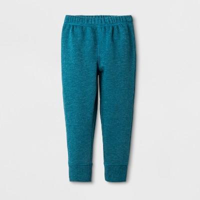 Toddler Boys' Fleece Lined Pull-On Pants - Cat & Jack™ Botanical Blue 12M