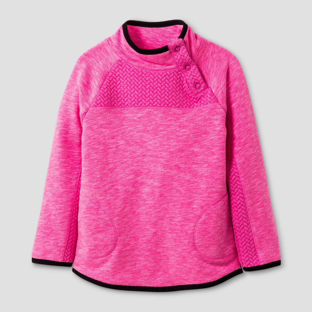 Toddler Girls Long Sleeve Activewear Pullover - Cat & Jack Pizzazz Pink 4T