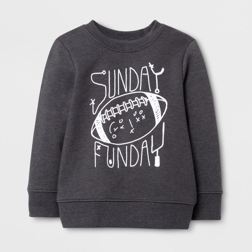 Toddler Boys Sweatshirts Cat & Jack Charcoal Gray 3T