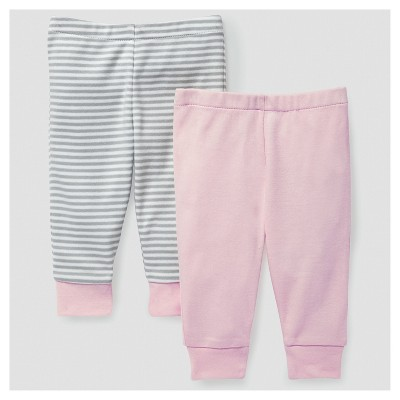 Skip Hop Baby Girls' Boho Feathers Pants Set - Pink 3M
