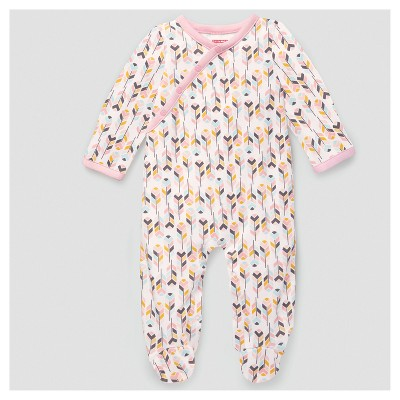 Skip Hop Baby Girls' Boho Feathers Footie Coveralls - Pink 6M