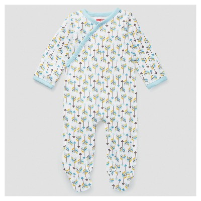 Skip Hop Baby Boys' Boho Feathers Footie Coveralls - Blue 6M