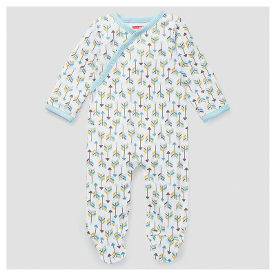 Skip Hop Baby Boys' Boho Feathers Footie Coveralls - Blue 3M