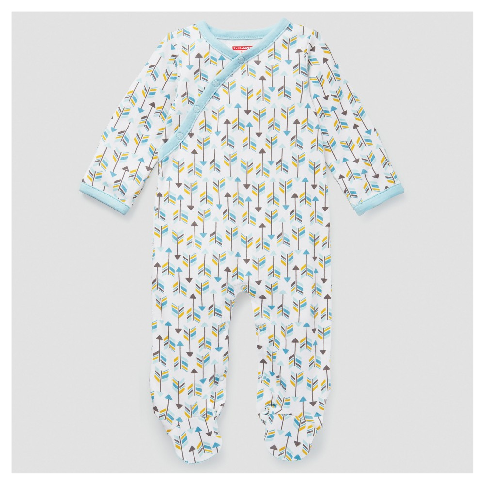 Skip Hop Baby Boys Boho Feathers Footie Coveralls - Blue 3M, Size: 3 M