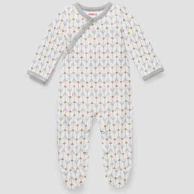 Skip Hop Baby Boho Feathers Footie Coveralls - Gray 9M