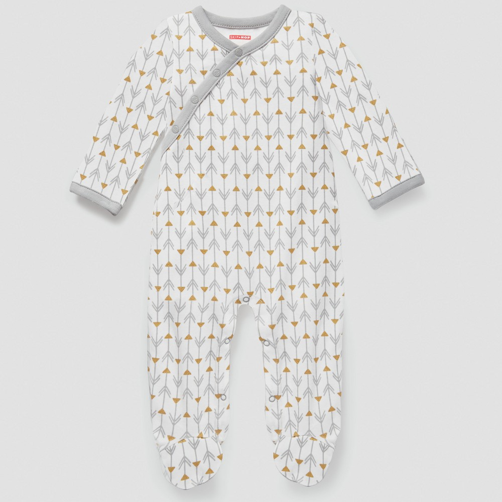 Skip Hop Baby Boho Feathers Footie Coveralls - Gray 9M, Infant Unisex, Size: 9 M