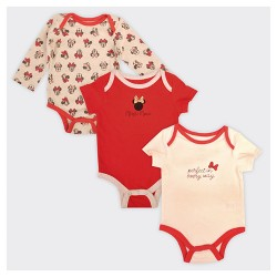 Baby Girls' Minnie Mouse 3pk Perfect in Every Way Bodysuit Set