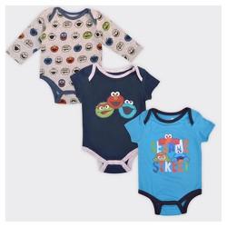 Baby Boys' Sesame Street Group 3pk Bodysuit Set