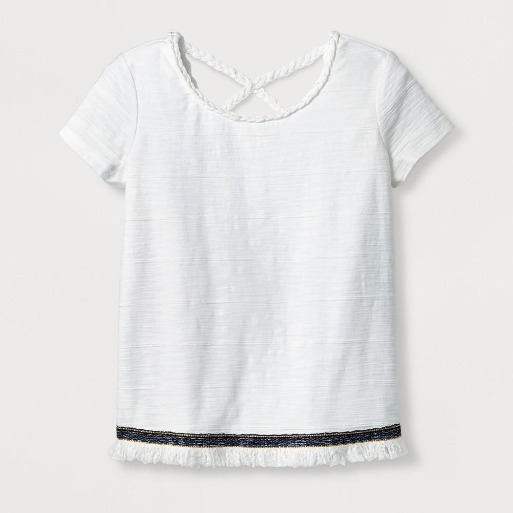 Girls Knit T-Shirt - Art Class White S