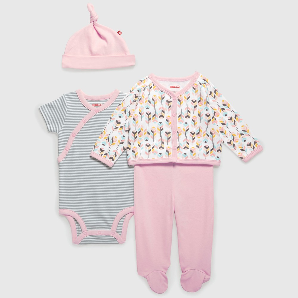 Skip Hop Baby Girls Welcome Home Layette Set - Pink NB