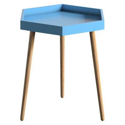 Great Hinsdale Hexagonal Mid Century Accent Table ...