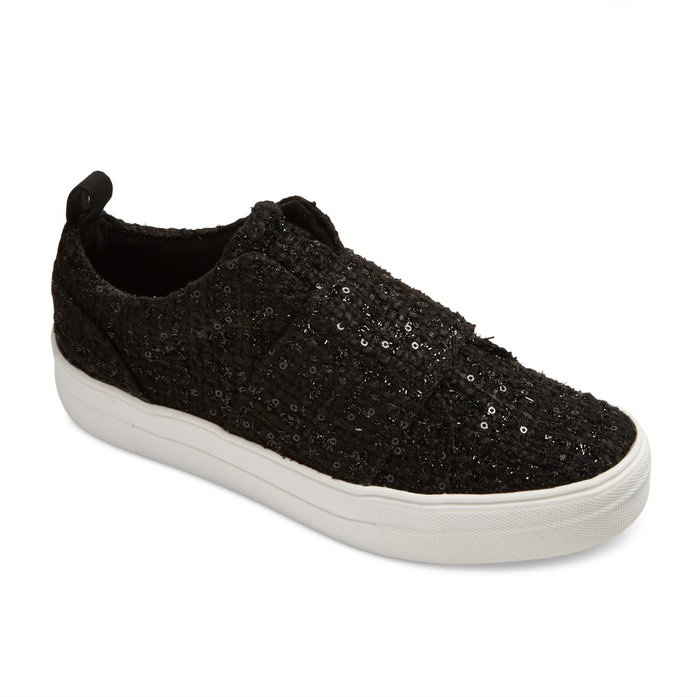 Womens dv Lamra Slip On Embellished Boucle Sneakers - Black 8