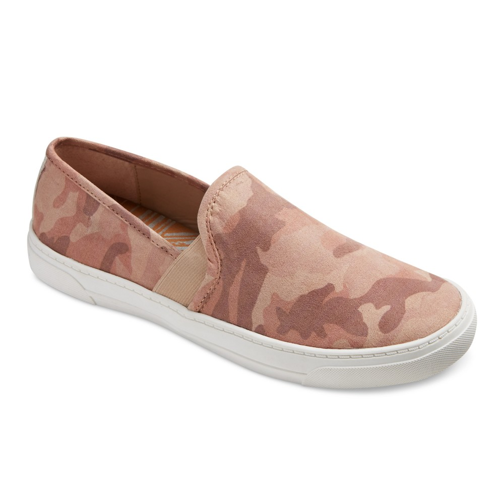 Womens dv Rose Camouflage Slip On Sneakers - Pink 8.5
