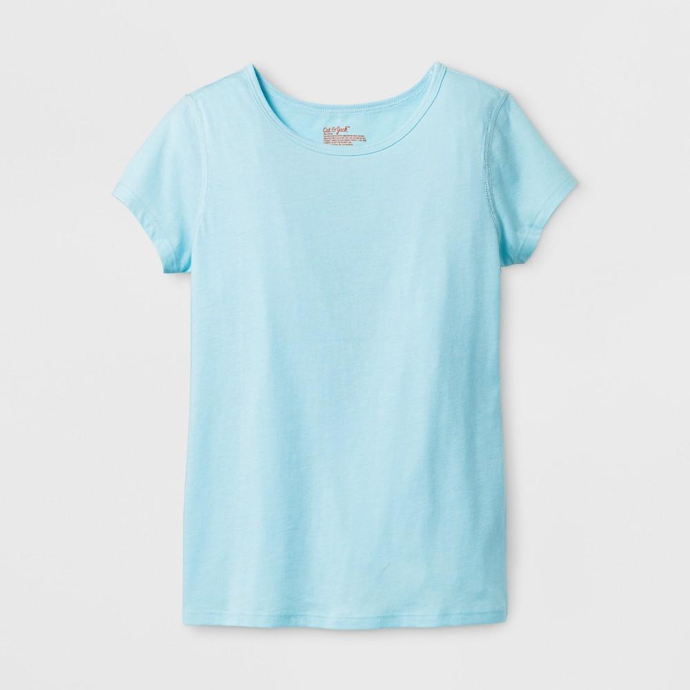 Girls Short Sleeve T-shirt - Cat & Jack Light Blue XS