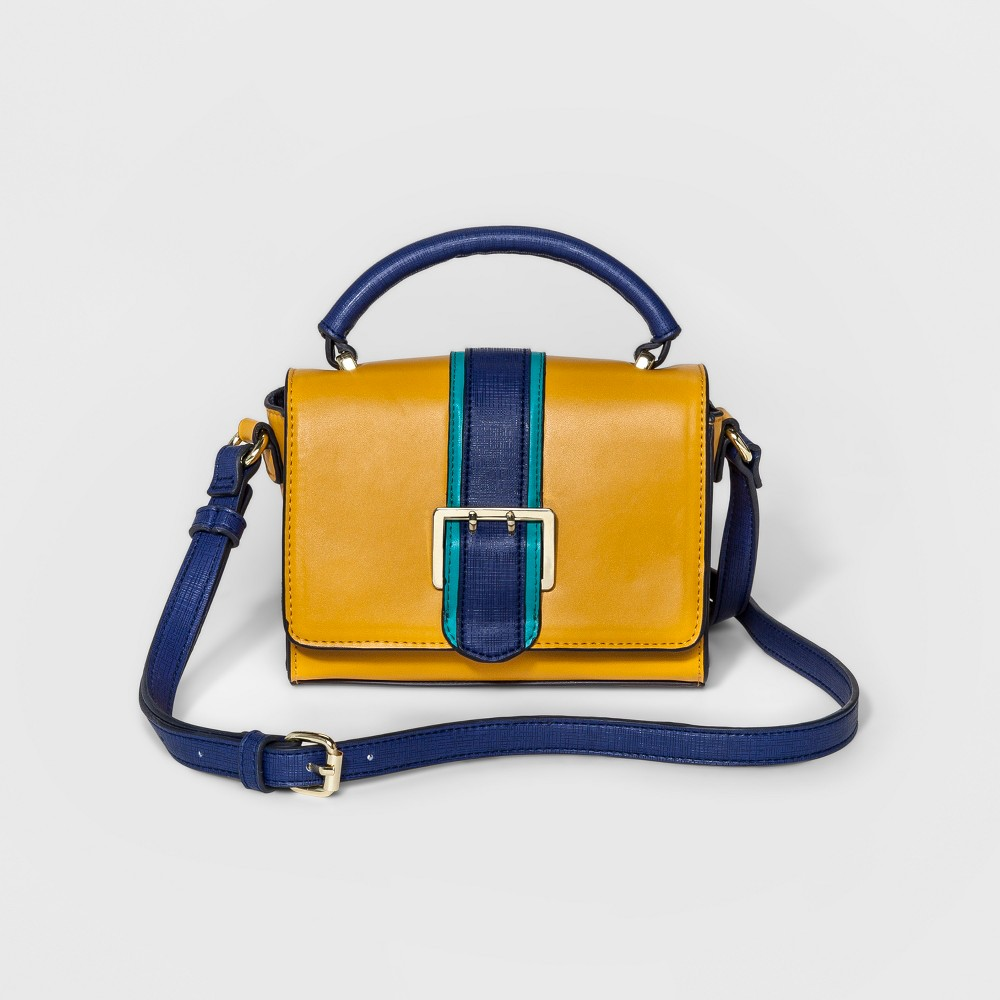 Womens Mini Buckle Crossbody Handbag - Merona Yellow