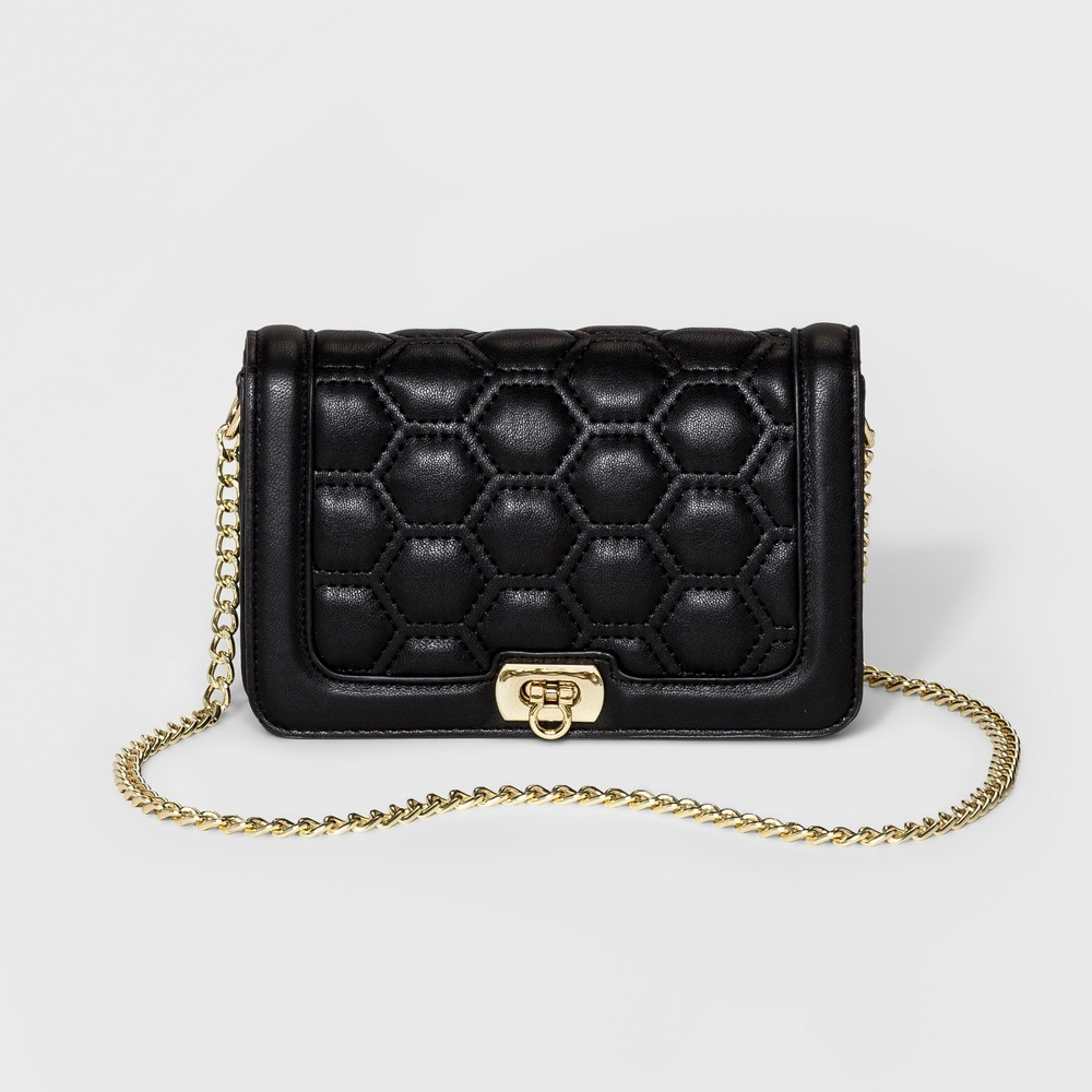 Womens Mini Camera Crossbody Handbag - Merona Black
