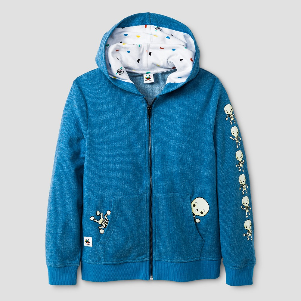Boys Toca Boca Kelsie Zip Up Sweatshirt with Hoodie Sky Blue XS