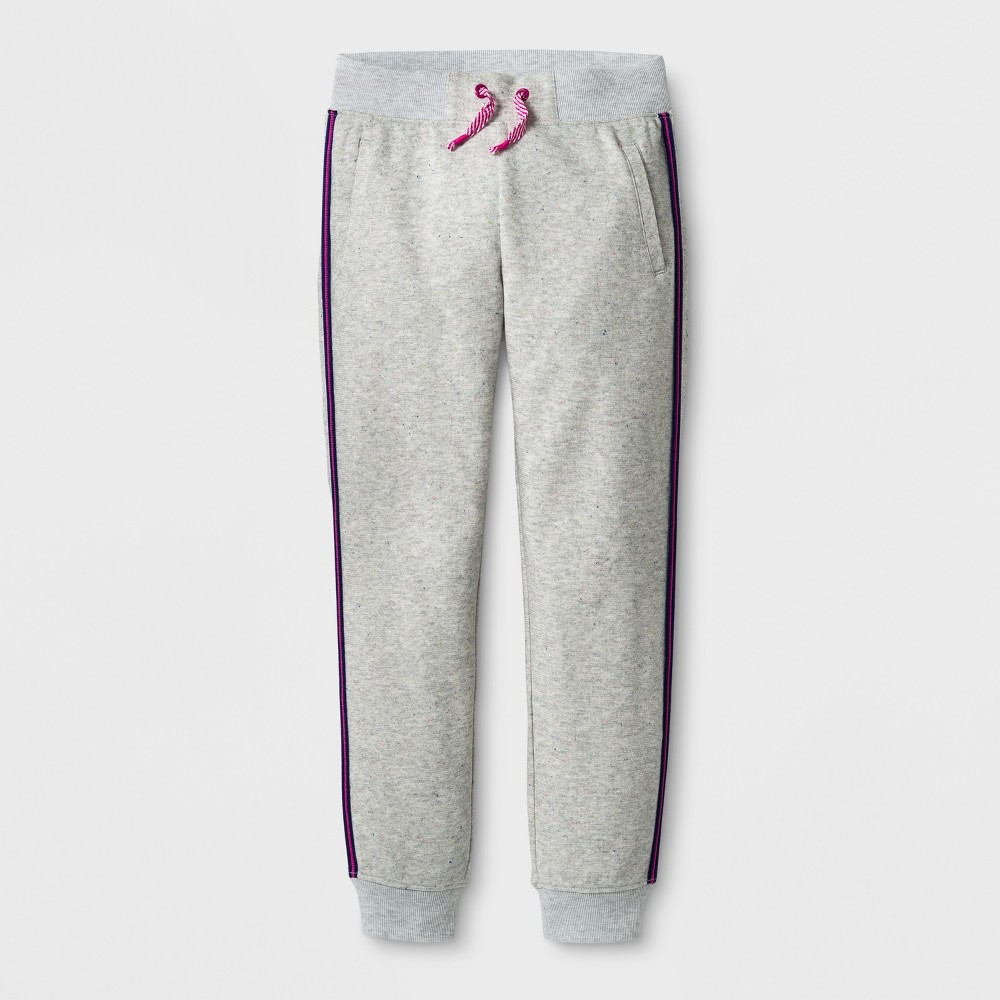 Girls Jogger Pants - Cat & Jack Oatmeal Heather S, Gray