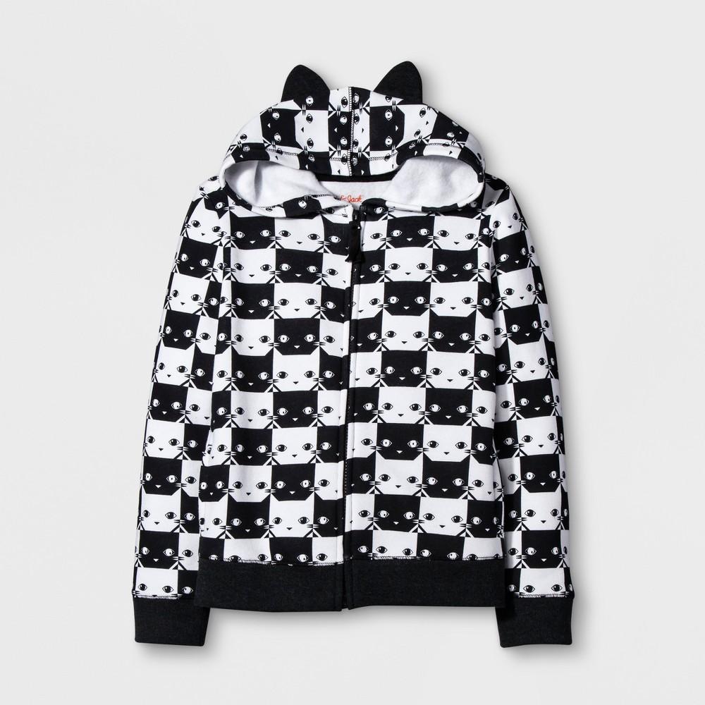 Girls Long Sleeve Zip Up Hoodie - Cat & Jack White XS