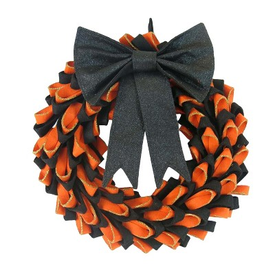 Halloween Fabric Bow Wreath - Hyde and Eek! Boutique™