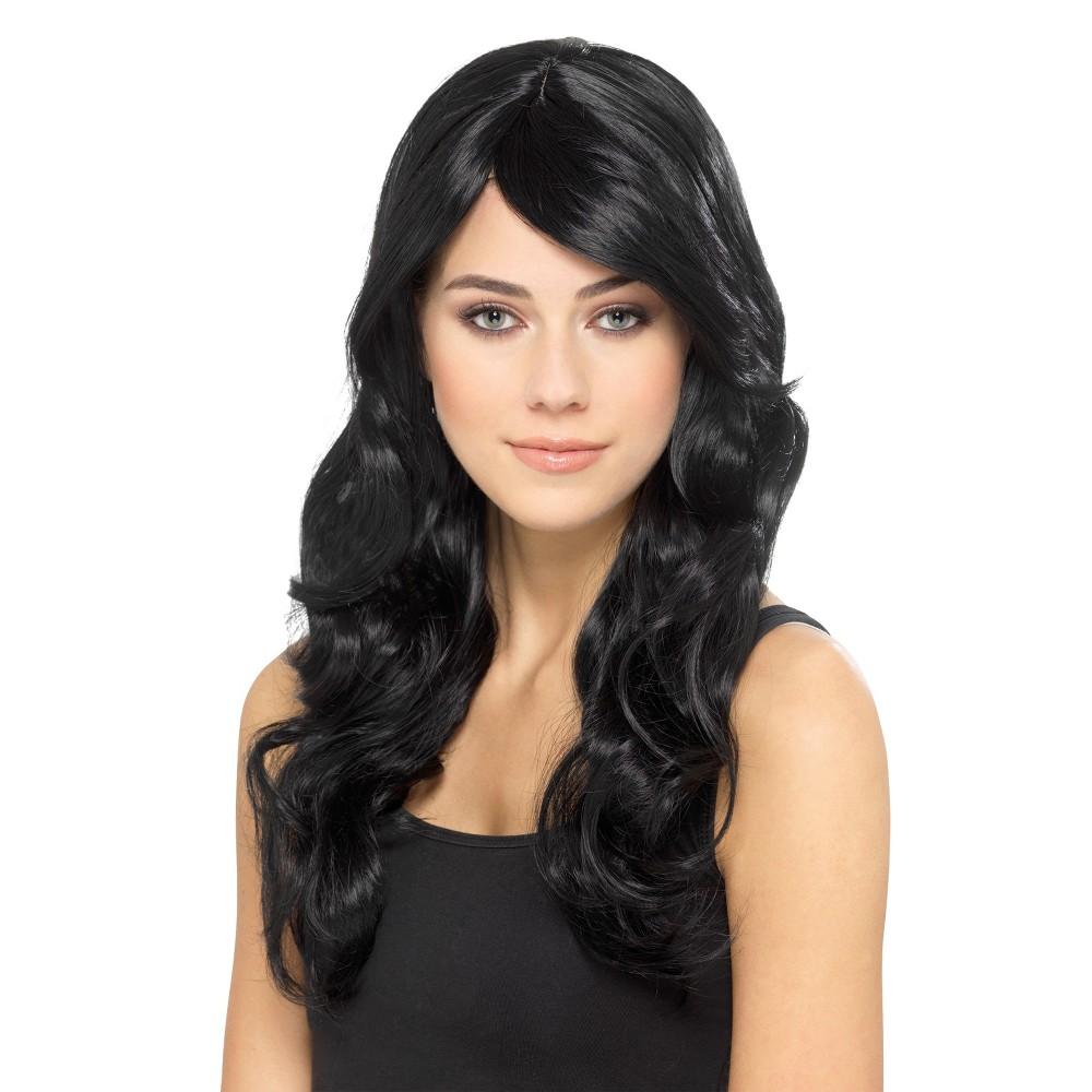 Smiffys Premium Black Costume Wig, Womens