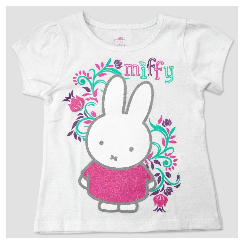 Toddler Girls Miffy Flower T-Shirt - Off White 2T, Beige