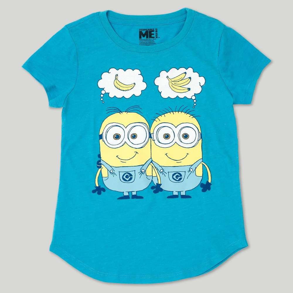 Girls Despicable Me 3 Happy Thoughts T-Shirt - Heather Blue L(10-12)