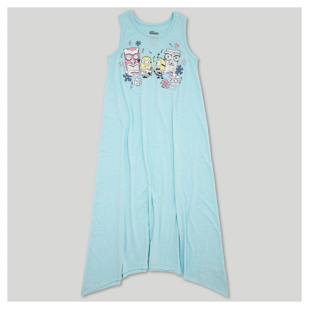 Girls Despicable Me 3 Midi Length Sleeveless Dress - Blue XS (4-5)